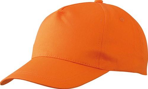 MB001 5 Panel Promo Cap Lightly Laminated - Oranje - One size