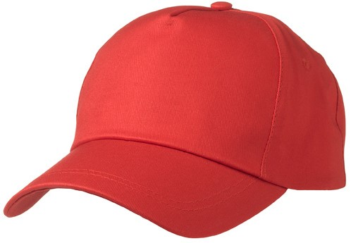 MB001 5 Panel Promo Cap Lightly Laminated - Signaal-rood - One size