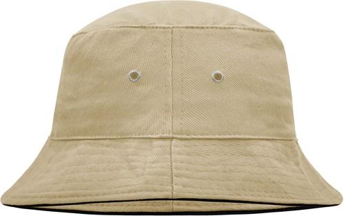 MB012 Fisherman Piping Hat - Khaki/zwart - L/XL