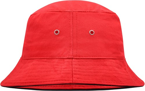 MB012 Fisherman Piping Hat - Rood/zwart - L/XL