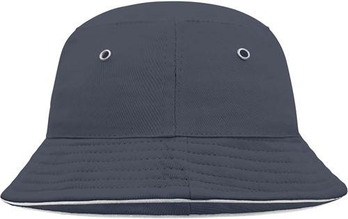 MB013 Fisherman Piping Hat for Kids - Navy/wit - One size