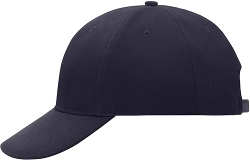 MB016 6 Panel Cap Laminated - Navy - One size