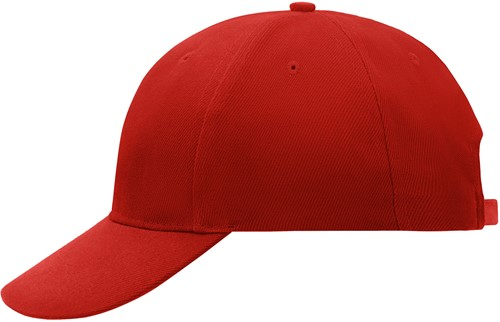 MB016 6 Panel Cap Laminated - Rood - One size