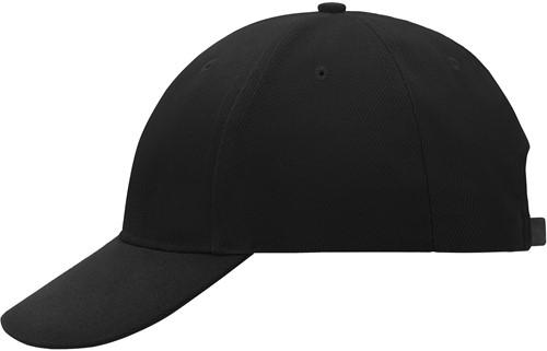 MB018 6 Panel Cap Low-Profile - Zwart - One size