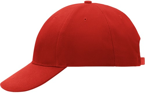 MB018 6 Panel Cap Low-Profile - Rood - One size