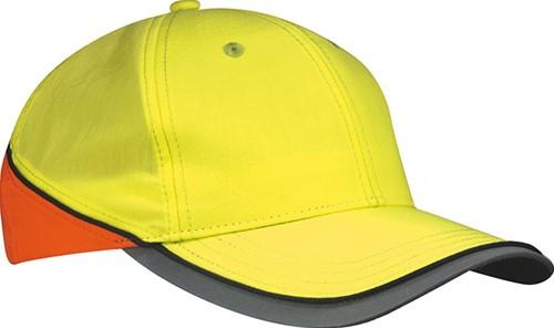 MB036 Neon-Cap - Neon geel/neon oranje - One size