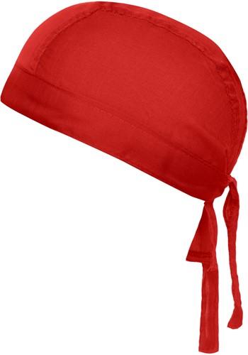 MB041 Bandana Hat - Rood - One size