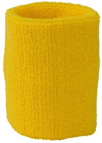 MB043 Terry Wristband - Goudgeel - One size