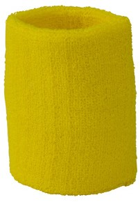 MB043 Terry Wristband - Lichtgeel - One size