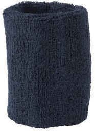 MB043 Terry Wristband - Navy - One size