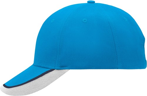 MB049 Half-Pipe Sandwich Cap - Aqua/navy/wit - One size
