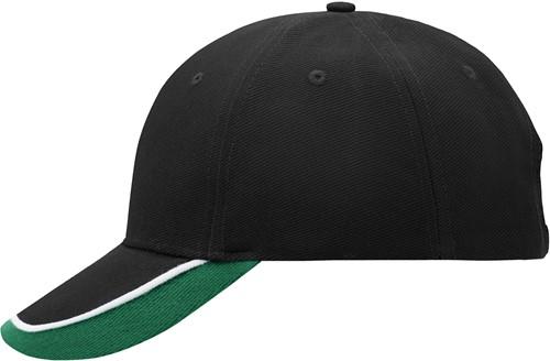 MB049 Half-Pipe Sandwich Cap - Zwart/wit/donkergroen - One size