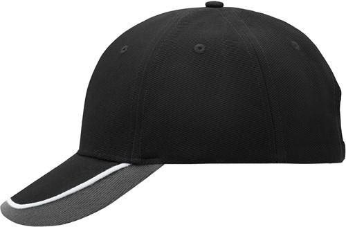 MB049 Half-Pipe Sandwich Cap - Zwart/wit/lichtgrijs - One size