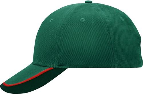 MB049 Half-Pipe Sandwich Cap - Donkergroen/rood/donkergroen - One size