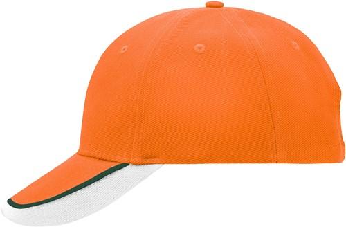 MB049 Half-Pipe Sandwich Cap - Oranje/donkergroen/wit - One size