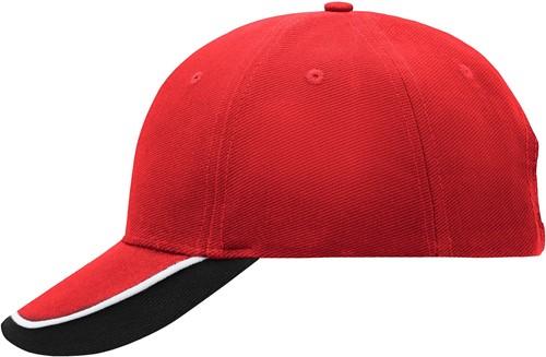 MB049 Half-Pipe Sandwich Cap - Rood/wit/zwart - One size