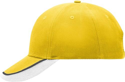 MB049 Half-Pipe Sandwich Cap - Zon-geel/wit/lichtgrijs - One size