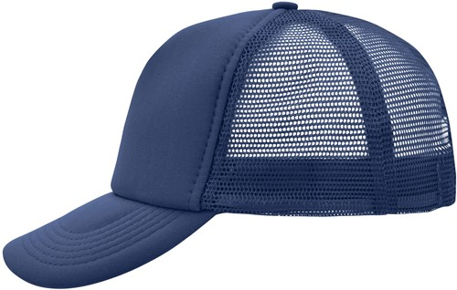 MB070 5 Panel Polyester Mesh Cap - Navy - One size