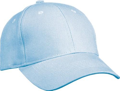 MB091 6 Panel Cap Heavy Cotton - Lichtblauw - One size
