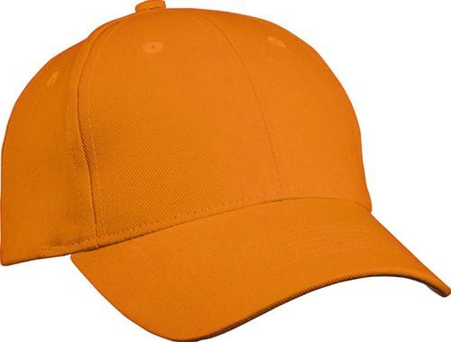 MB091 6 Panel Cap Heavy Cotton - Oranje - One size