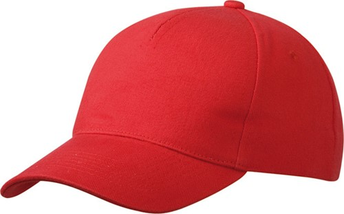 MB092 5 Panel Cap Heavy Cotton - Rood - One size