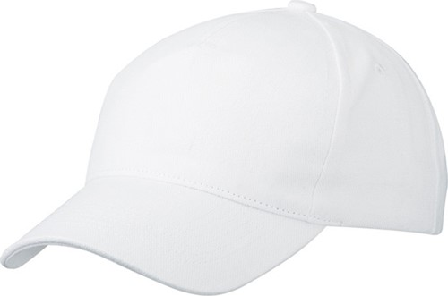MB092 5 Panel Cap Heavy Cotton - Wit - One size