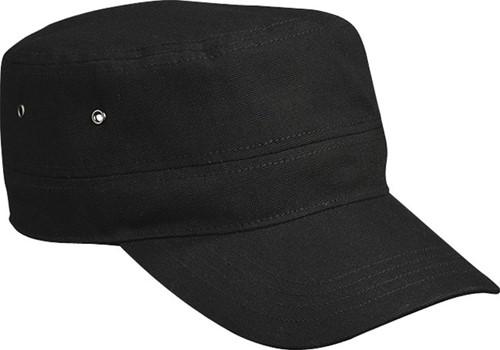 MB095 Military Cap - Zwart - One size