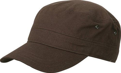 MB095 Military Cap - Donkerbruin - One size