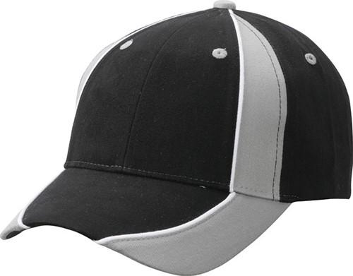 MB135 Club Cap - Zwart/lichtgrijs/wit - One size