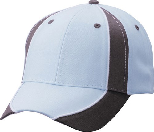 MB135 Club Cap - Lichtblauw/donkerbruin/wit - One size