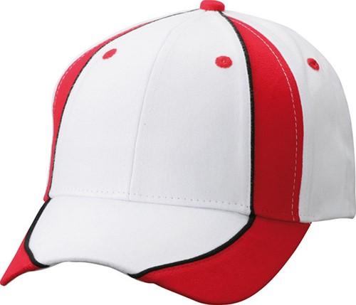 MB135 Club Cap - Wit/rood/zwart - One size