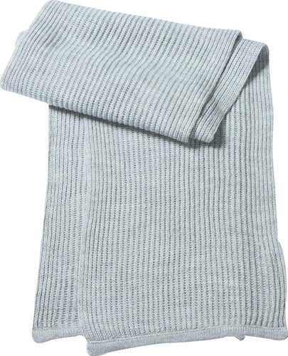 MB504 Knitted Scarf - Lichtgrijs-melange - One size