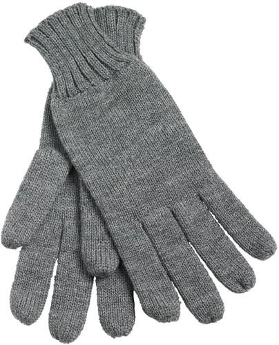 MB505 Knitted Gloves - Donkergrijs-melange - L/XL