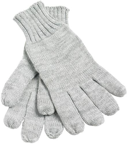 MB505 Knitted Gloves - Lichtgrijs-melange - L/XL