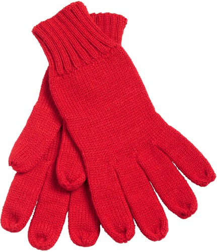 MB505 Knitted Gloves - Rood - L/XL