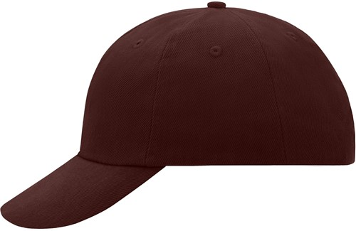 MB6111 6 Panel Raver Cap - Donkerbruin - One size