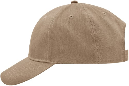 MB6118 Brushed 6 Panel Cap - Beige - One size