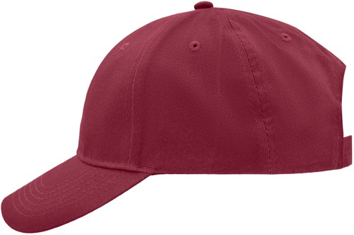 MB6118 Brushed 6 Panel Cap - Dieprood - One size
