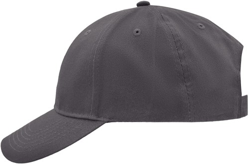 MB6118 Brushed 6 Panel Cap - Carbon - One size