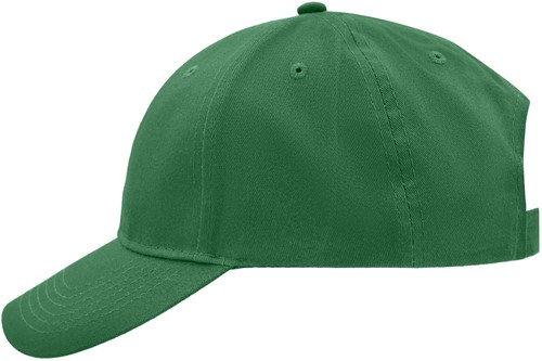 MB6118 Brushed 6 Panel Cap - Groen - One size