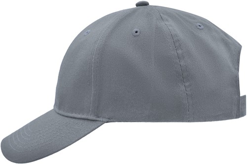 MB6118 Brushed 6 Panel Cap - Grijs - One size
