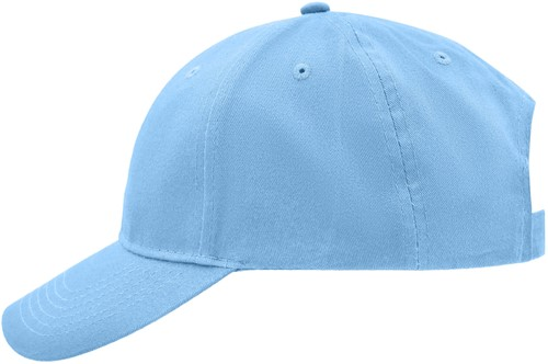 MB6118 Brushed 6 Panel Cap - Lichtblauw - One size