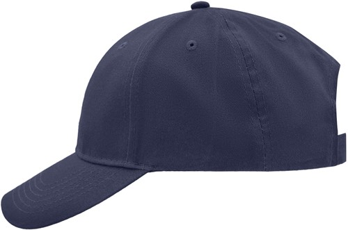 MB6118 Brushed 6 Panel Cap - Navy - One size