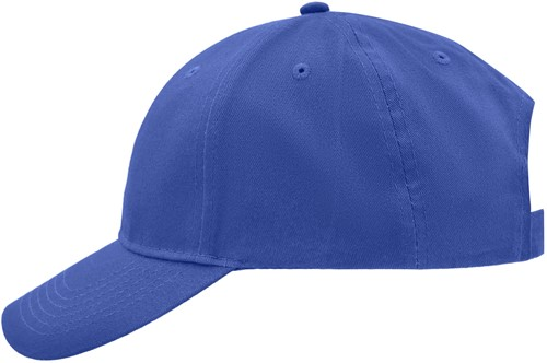 MB6118 Brushed 6 Panel Cap - Royal - One size