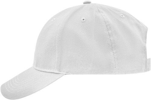 MB6118 Brushed 6 Panel Cap - Wit - One size