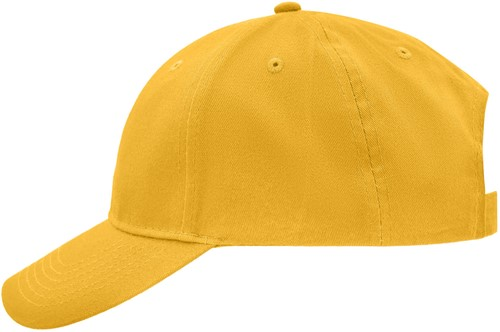 MB6118 Brushed 6 Panel Cap - Geel - One size