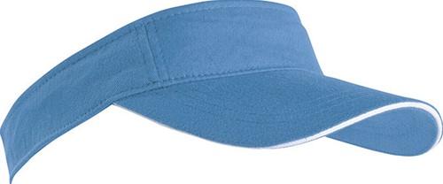 MB6123 Sandwich Sunvisor - Lichtblauw/wit - One size