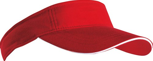 MB6123 Sandwich Sunvisor - Rood/wit - One size