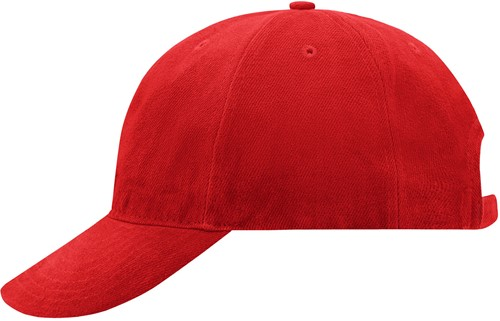 MB6126 6 Panel Softlining Raver Cap - Signaal-rood - One size