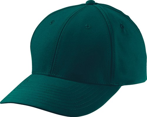 MB6135 6 Panel Polyester Peach Cap - Donkergroen - One size
